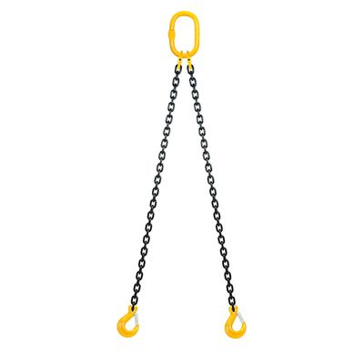 Chain sling 2-legs with latch hooks, grade 80