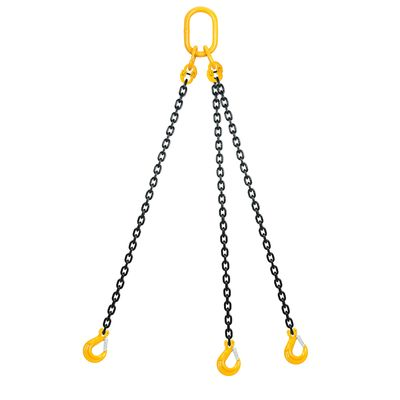 Chain sling 3-legs with latch hooks, grade 80