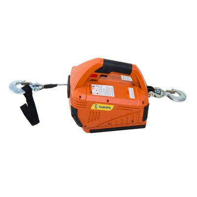 Battery operated electric wire hoist for lifting and pulling 24 V