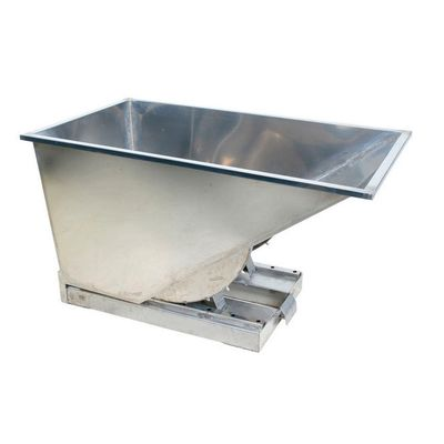 Stainless steel tipping containers