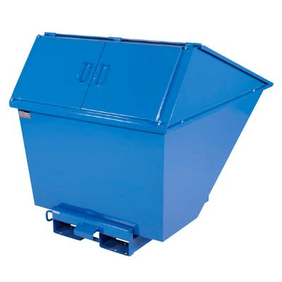 Tipping containers with high lid