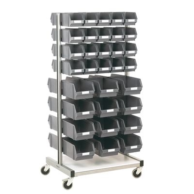 Two-sided storage stand with wheels